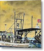Capt. Jamie - Shrimp Boat - Photopower 01 Metal Print