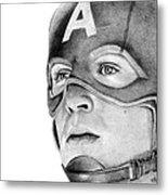 Captain America Metal Print