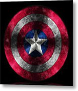 Captain America Shield Metal Print