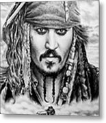 Captain Jack Sparrow 2 Metal Print