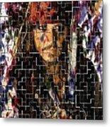 Captain Jack Sparrow Digital Painting Metal Print