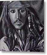 Captain Jack Sparrow Metal Print by Lori Keilwitz