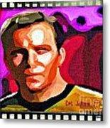 Captain James T Kirk Metal Print