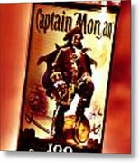 Captain Morgan Red Toned Metal Print