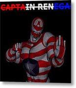 Captain Renegade Super Hero Combating Crime Metal Print