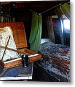 Captain's Quarters Aboard The Mayflower Metal Print