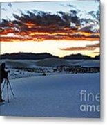 Capturing The Sunset Metal Print