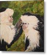 Capuchin Monkeys Charlotte And Samantha Half Proceeds Go To Jungle Friends Primate Sanctuary Metal Print