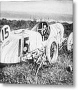 Car Accident, Bob Burmans Car Metal Print