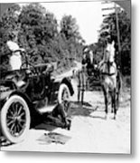 Car And Carriage, 1914 Metal Print
