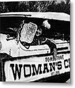 Car And Driver In Helldorado Days Parade In Tombstone Arizona 1967 Metal Print