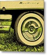Car And Tire Metal Print