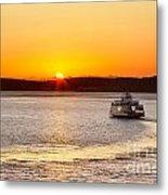 Car Ferry Leaving Steilacoom Metal Print