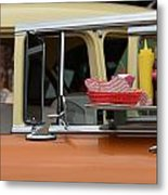 Car Hops And Chevys Metal Print