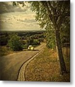 Car On Road Metal Print by Carlos Caetano