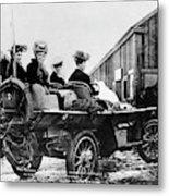 Car Race, 1908 Metal Print