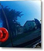 Car Reflection 8 Metal Print