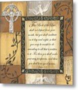 Caramel Scripture Metal Print