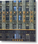 Carbide And Carbon Building Metal Print by Adam Romanowicz