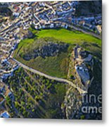 Carcabuey Castle From The Air Metal Print