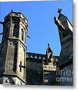 Carcassonne's Cathedral Metal Print by France  Art
