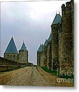 Carcassonne Walls Metal Print by France  Art