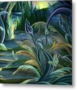 Card Design For Insects Of Enchanted Stream Metal Print