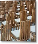 Cardboard Cathedral Chairs Metal Print