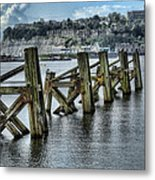 Cardiff Bay Old Jetty Supports Metal Print