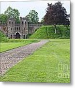 Cardiff Castle Wall 8383 Metal Print