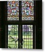 Cardiff Castle Window 8355 Metal Print