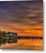 Carew Castle Sunset 1 Metal Print