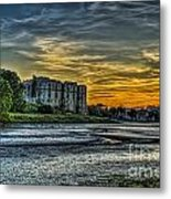 Carew Castle Sunset 3 Metal Print