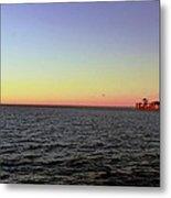 Cargo Ship @ Chesapeake Bay Bridge Tunnel Metal Print