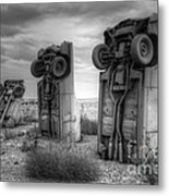 Carhenge Automobile Art 3 Metal Print