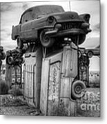 Carhenge Automobile Art 4 Metal Print