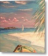 Caribbean Afternoon Metal Print by The Beach  Dreamer