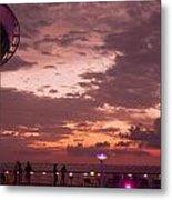 Caribbean Cruise Light Show Metal Print