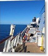 Caribbean Cruise - On Board Ship - 121262 Metal Print
