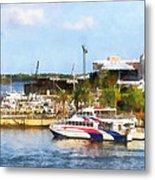 Caribbean - Dock At King's Wharf Bermuda Metal Print