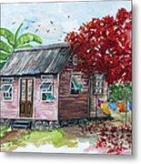 Caribbean House Metal Print