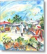 Caribbean Market Metal Print