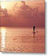 Caribbean Paddleboarder Metal Print