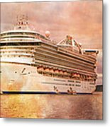 Caribbean Princess In A Different Light Metal Print by Betsy Knapp