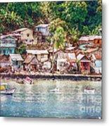 Caribbean Village Metal Print