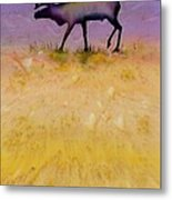 Caribou On The Tundra 2 Metal Print by Carolyn Doe