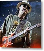 Carlos Santana On Guitar 2 Metal Print