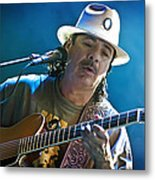 Carlos Santana On Guitar 3 Metal Print by Jennifer Rondinelli Reilly - Fine Art Photography