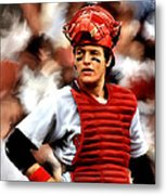 Fisk  Carlton Fisk Metal Print by Iconic Images Art Gallery David Pucciarelli