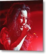 Carly And The Concert Lighting Metal Print